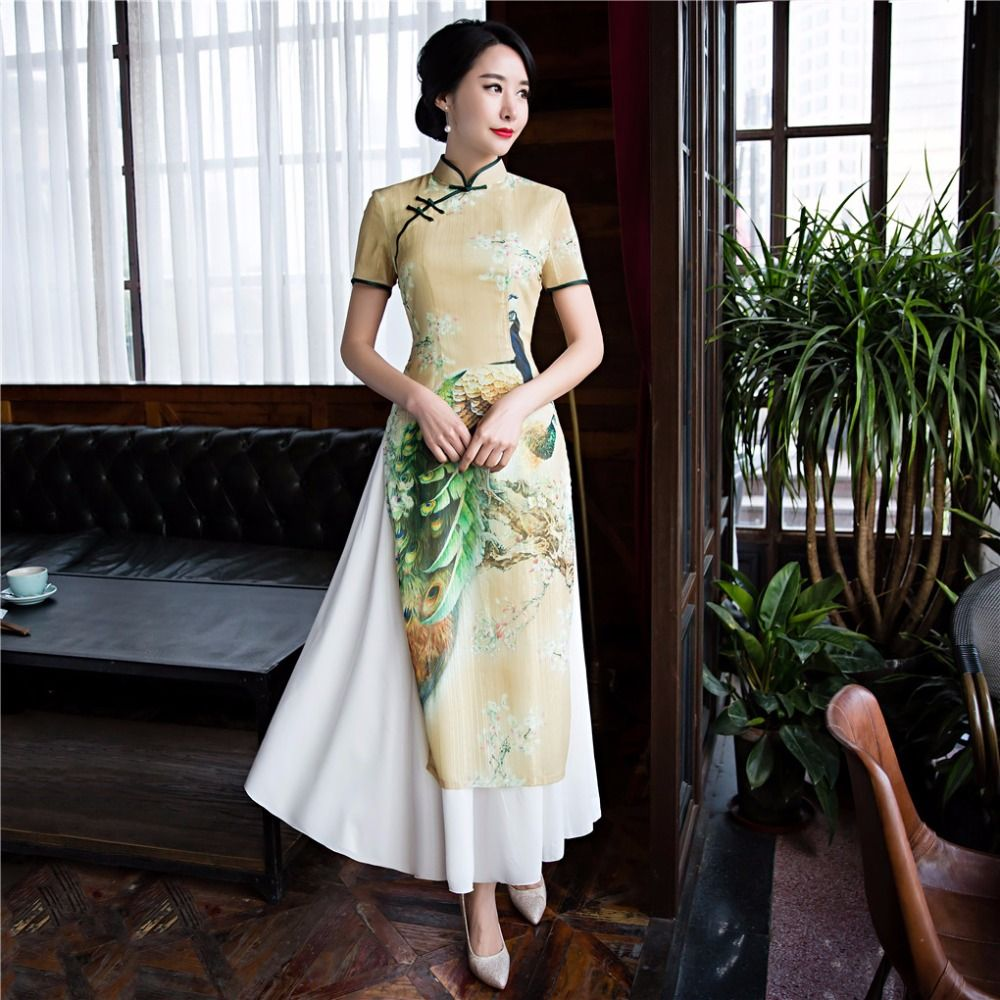 Shanghai Story 2017 Vietnam ao dai Chinese traditional dress qipao long Chinese  cheongsam dress robe Vietnamese 0edc327cf6d9