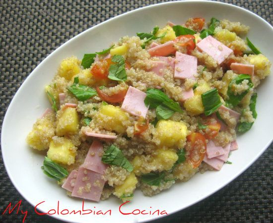 Ensalada de quinua hawaiana recetas navide as food for Como se cocina la quinoa para ensalada