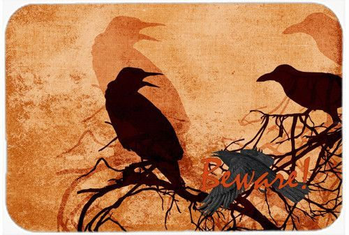 Beware Of The Black Crows Halloween Kitchen Or Bath Mat 24x36 | Halloween  Kitchen, Bath Mat And Products