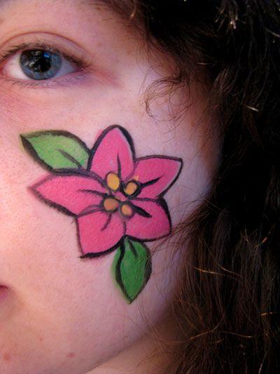 simple cheek face painting ideas
