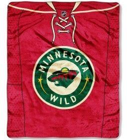 "Minnesota Wild 50""x60"" Royal Plush Raschel Throw Blanket - Jersey Design"