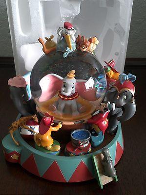 Rare Disney Store Retired Dumbo Musical Snowglobe Large