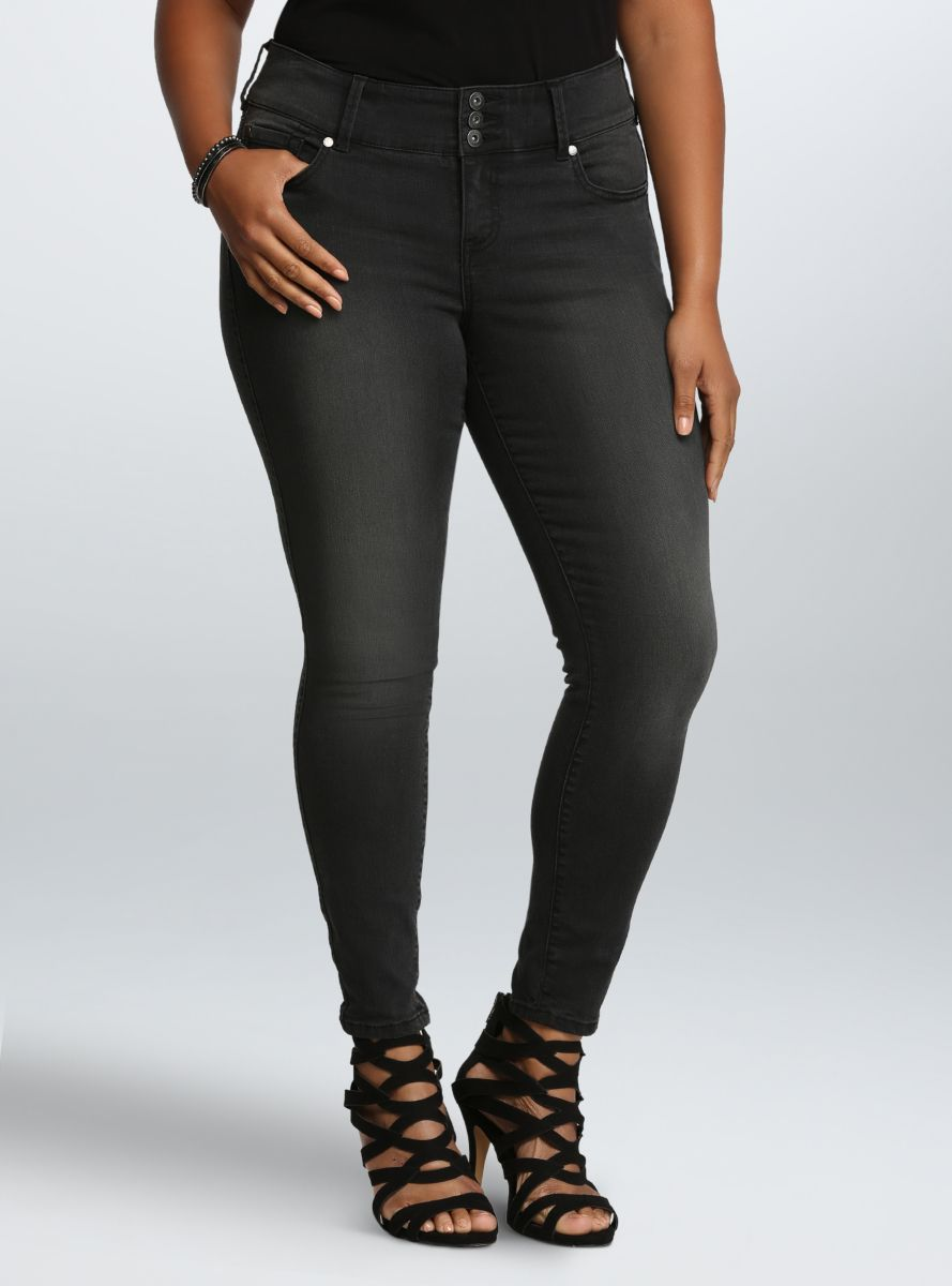 4d93198e18a857 Torrid Jegging – Charcoal Grey Wash (Regular) From the Plus Size Fashion  Community at .