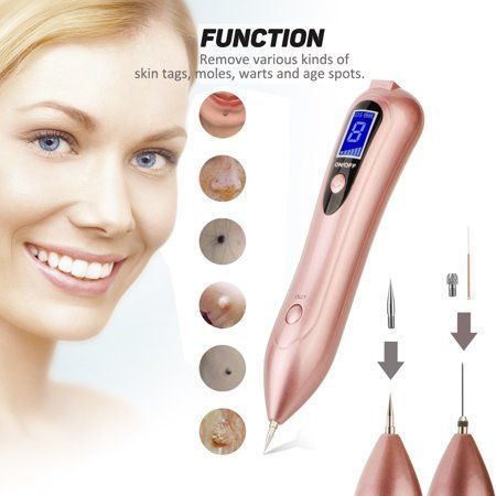 Skin Tag Mole Remover Portable Rechargeable Mole Removal Pen For Face Body Self Black Raised Mole Skin Tag Wart Dark Sun Ag Face And Body Mole Removal Warts