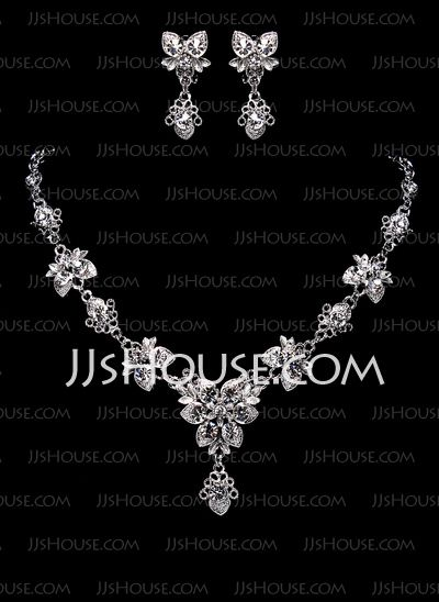 Jewelry - $29.99 - Jewelry Sets Anniversary Wedding Engagement Birthday Gift Party Alloy Silver Jewelry With Rhinestone (011017863) http://jjshouse.com/Jewelry-Sets-Anniversary-Wedding-Engagement-Birthday-Gift-Party-Alloy-Silver-Jewelry-With-Rhinestone-011017863-g17863