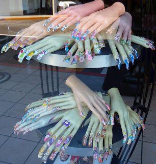 Nail Salon Window Display