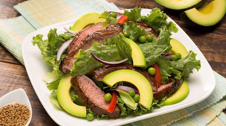 Asian Salad w/Beef & Avocado | Avocados from Mexico