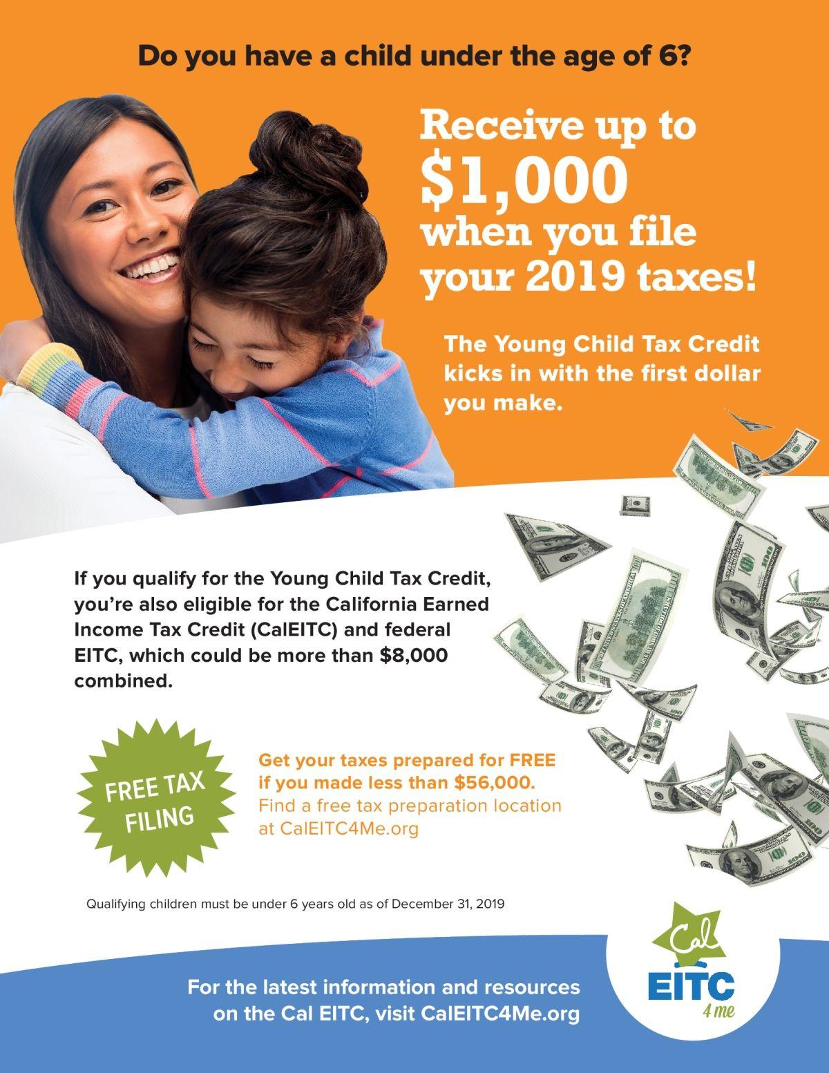 新幼兒稅收抵免政策可獲多達8,000美元 Received up to 8000 from New Young