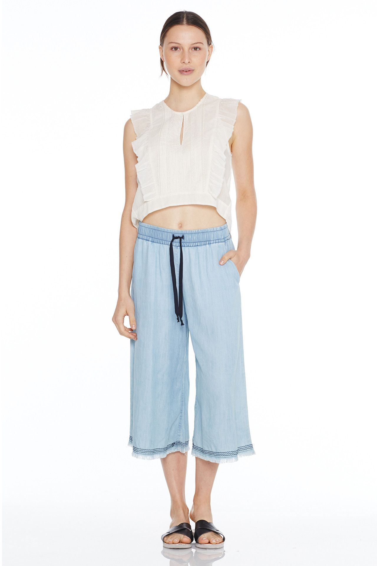 LILY CULOTTES, LIGHT WASH