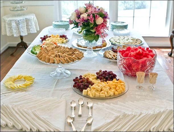 Bridal Shower Food Table Bridalshower Weddingfood