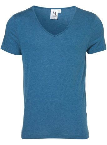 BLUE BOUND VEE NECK T-SHIRT $14.00