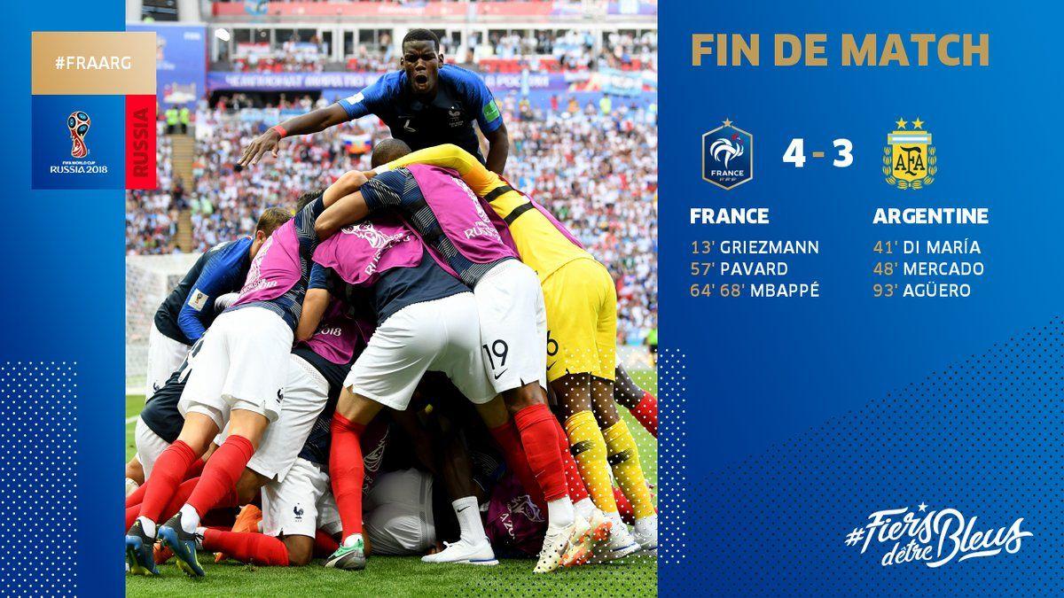 France Vs Argentina 4 3 Highlights Video Download France Argentina World Cup