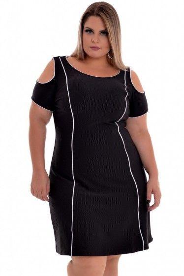 f249f93fa Vestido Plus Size Channel | Moldes | Vestidos, Blusas para gordas e ...