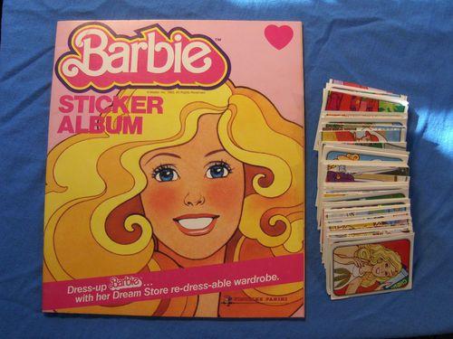 Unused Vintage 1983 Barbie Sticker Album Book All 216 ...