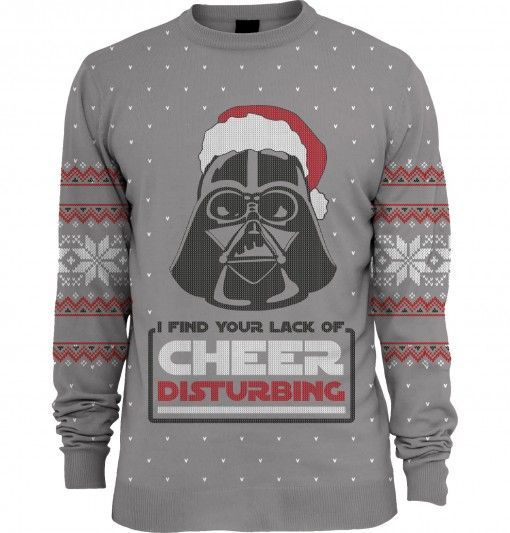 star wars lack of cheer disturbing unisex knitted christmas sweater