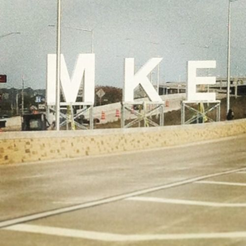 New MKE sign outside of the Milwaukee Airport. See you in December, beautiful.