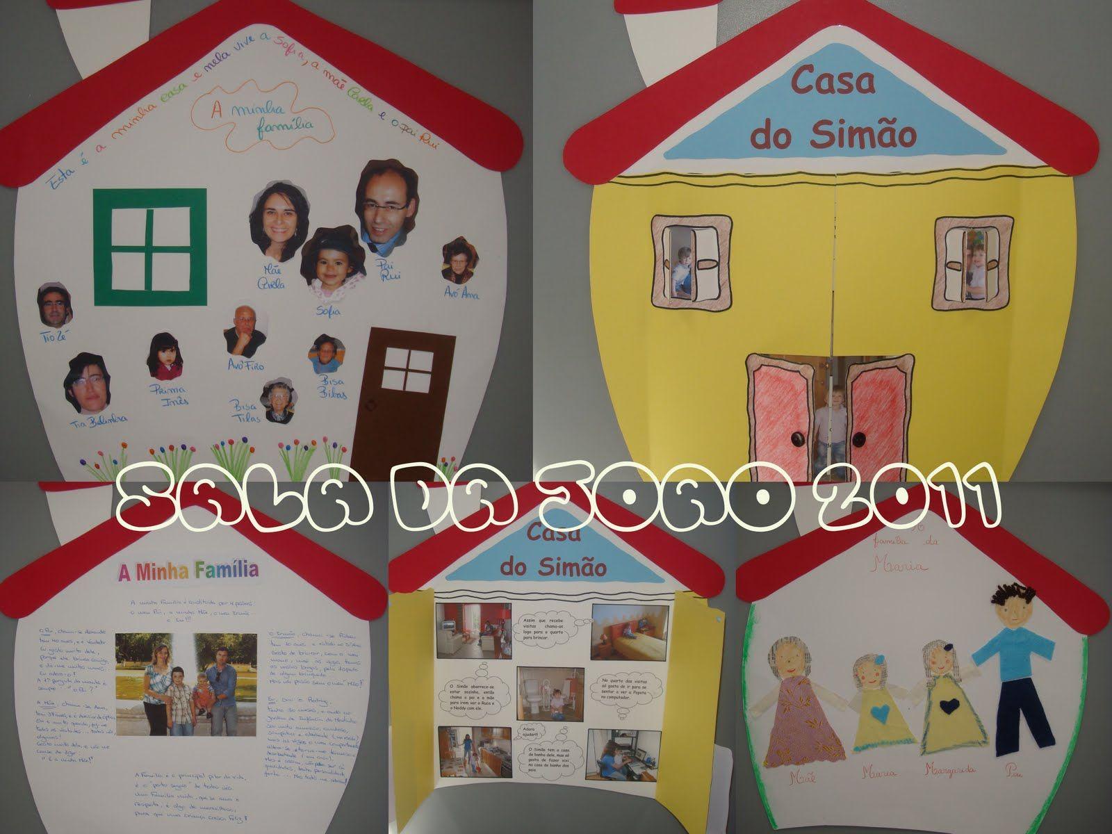 Sala dos afectos com arte trabalho de casa familia for E casa com