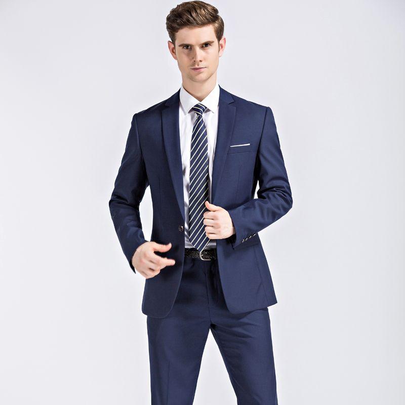 Men Suits For Wedding Latest Coat Pant Designs Fashion Mens Suits With  Pants Slim Fit Black Blue Mens Formal Suit
