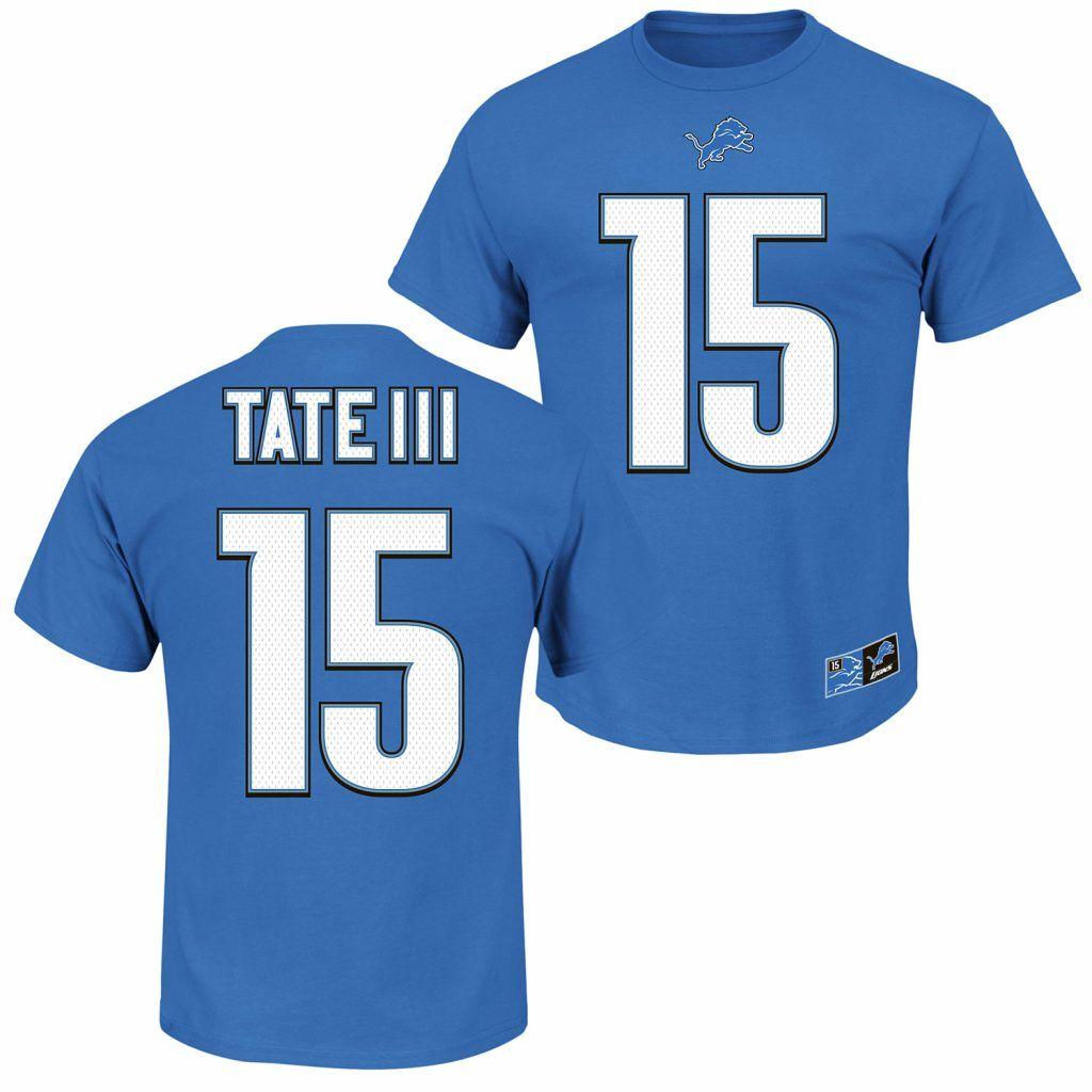 598e26a9 Golden Tate III Detroit Lions Player T-Shirt | Detroit Lions Player ...
