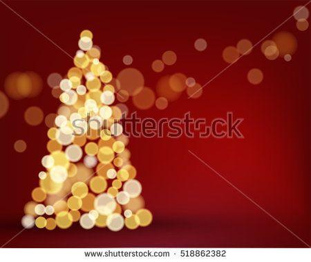 christmas tree lighting bokeh background concept design for christmas and new year season