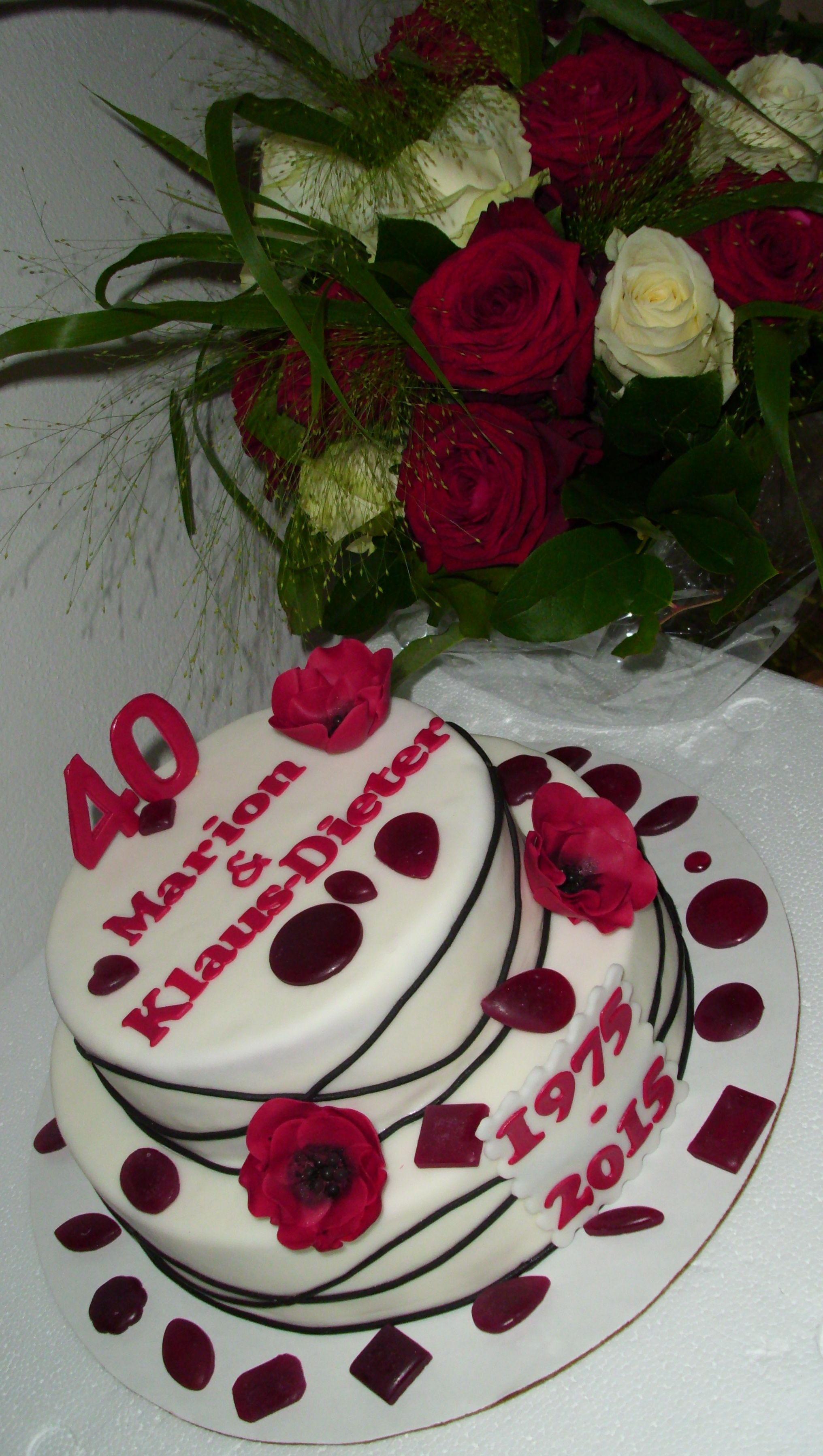 Ruby Wedding Cake Rubinhochzeit Torte Rubinhochzeit Hochzeit Hochzeitstorte Ideen