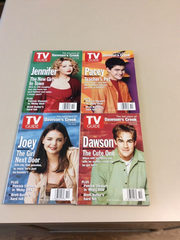 rare set of four dawson s creek tv guides from 29 99 me christmas rh pinterest com Classic TV Guide Channel Listings TV Guide for Tonight