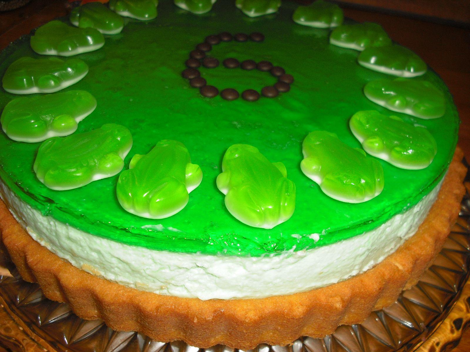 Wackelpudding Torte Waldmeister Geburtstagsideen Kuchen Kids