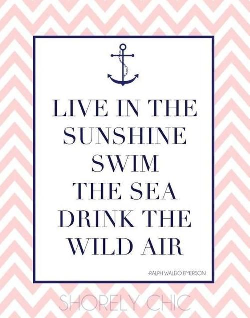 Live In The Sunshine, Swim The Sea, Drink The Wild Air #summer #
