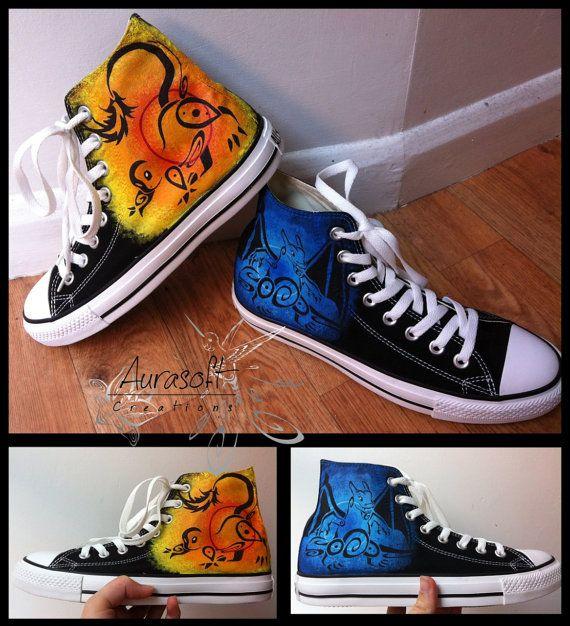 Benutzerdefinierte lackiert Top Leinwand Pokemon Schuhe