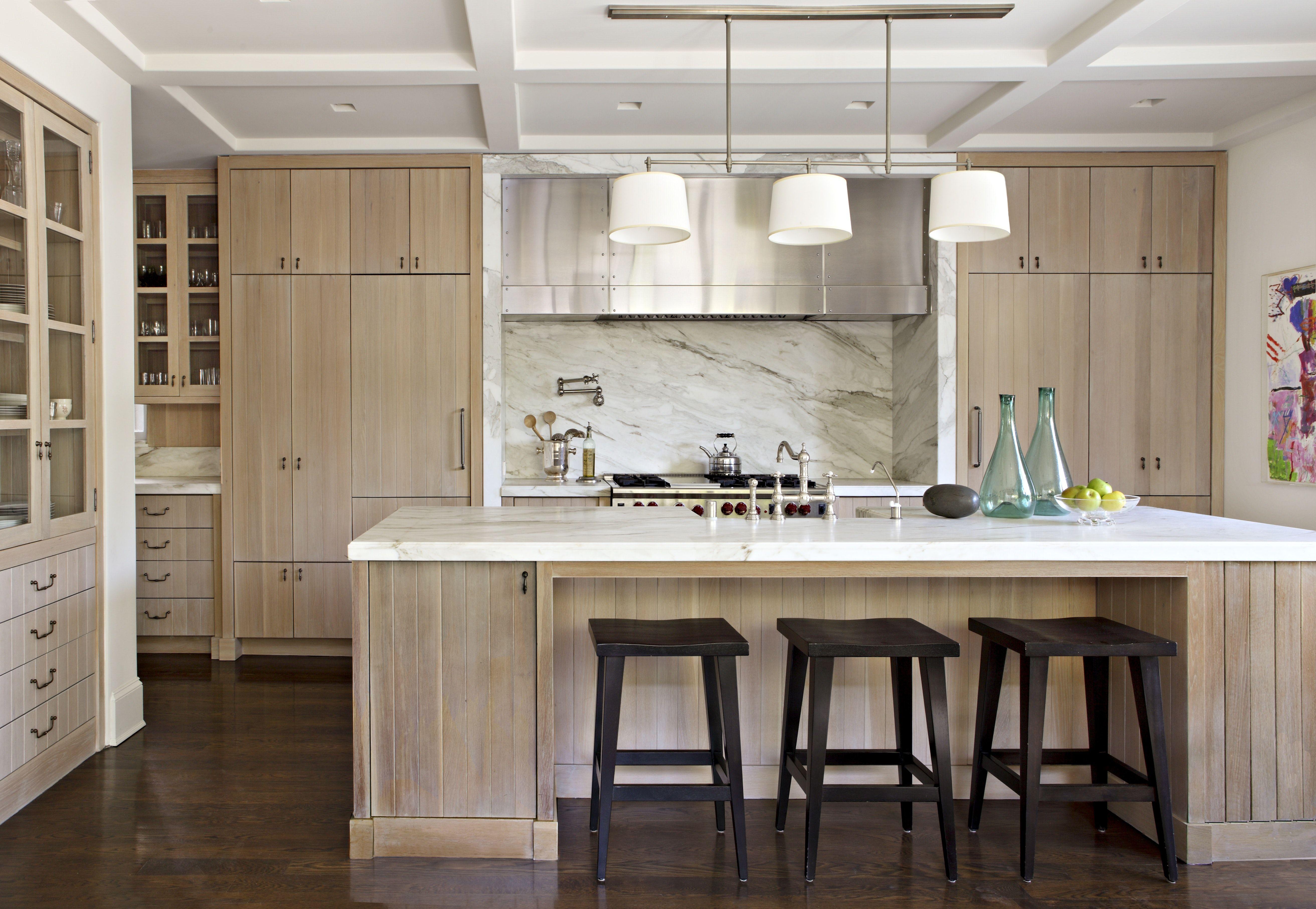 Hancock Park Residence Wooden Kitchen Cabinets Light Wood Kitchens Wood Kitchen