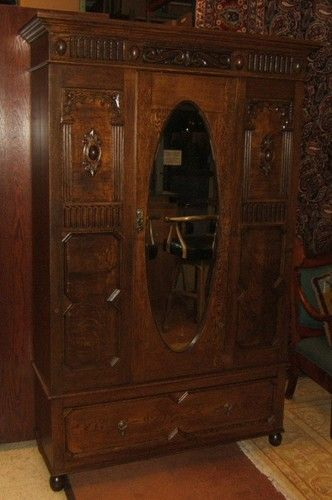 Handcrafted BM542D Antique Armoire English Jacobean 19th Century 81in X  53in X 1 | EBay