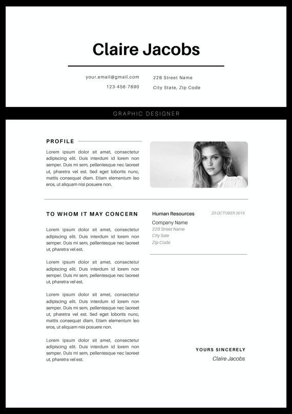 Creative Resume Template Cv Template Instant Download Editable In Ms Word And Pages Cover Letter Size A4 And Us Letter Modele De Cv Creatif Modele Cv Cv Creatif