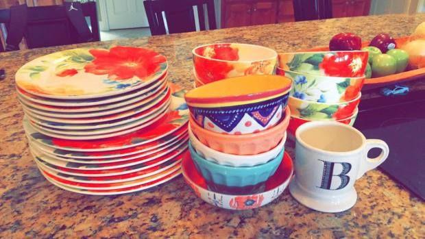 Spring dinnerware #pier1 #anthropologie #anthrohome