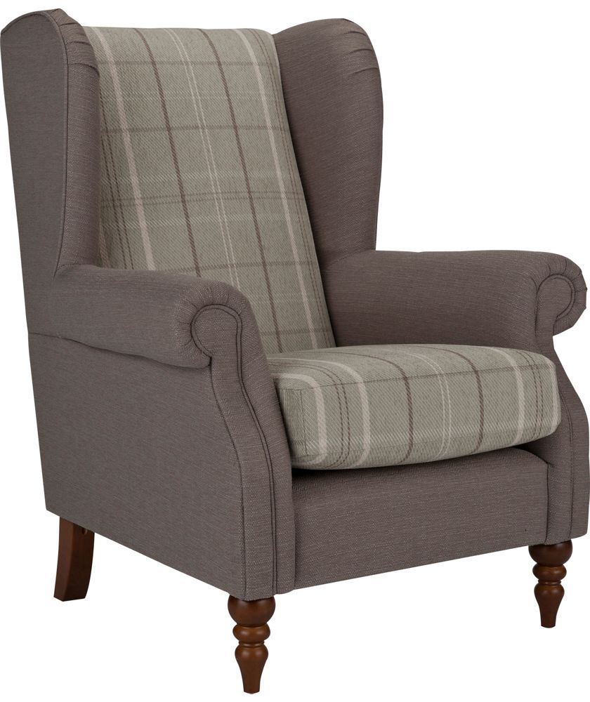 buy heart of house argyll checked fabric chair duck egg. Black Bedroom Furniture Sets. Home Design Ideas