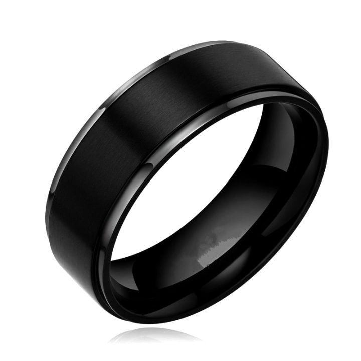 Black Anium And Tungsten Mens Wedding Bands Ideas Bfo Rings