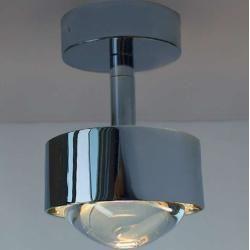 Top Light Puk Turn Deckenleuchte Chrommatt Up Down Light Linse Klar Led Top Lighttop Light Top Light Puk Turn Deckenleuch In 2020 Light Ceiling Lamp Ceiling Lights