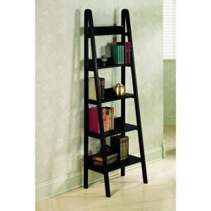 Home Decorators Collection Torrence 30 In W Black 5 Shelf Ladder Bookshelf 2853710210 At The Depot