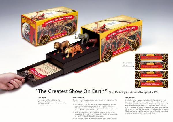 THE GREATEST SHOW ON EARTH, Direct Marketing Awards, Arc Worldwide, Direct Marketing Association Of Malaysia (dmam), Print, Outdoor, Ads