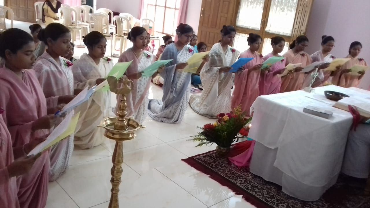 Junior Sisters Renewed Their Vows In Nazareth Convent Ranchi At