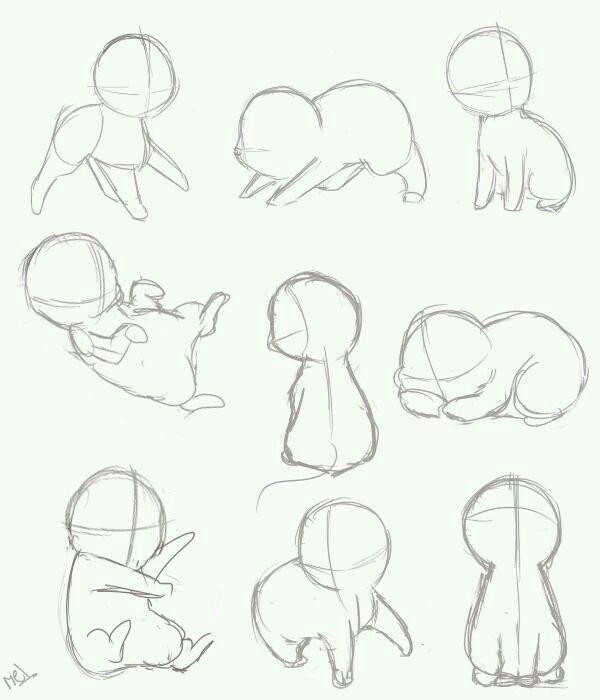 Chibi Pet Poses Drawing Tutorial Animal Drawings Drawings
