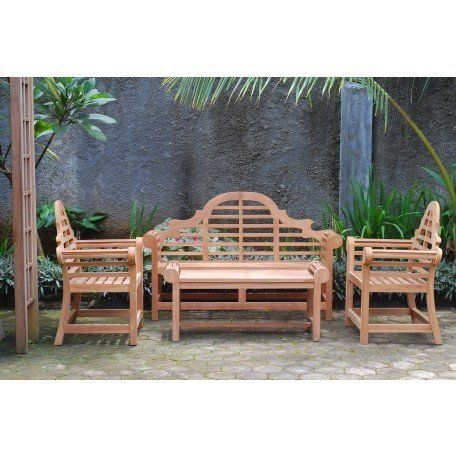 Windsors Premium 4 Pc Grade A Teak Patio Set With Images Teak