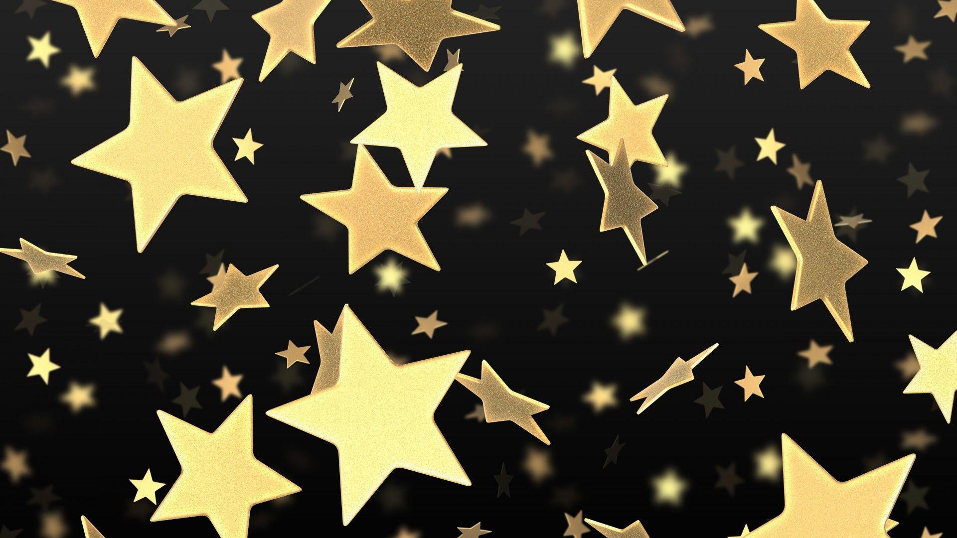 Download 1920x1080 Full Hd 1080p 1080i Star Flying Gold Wallpaper