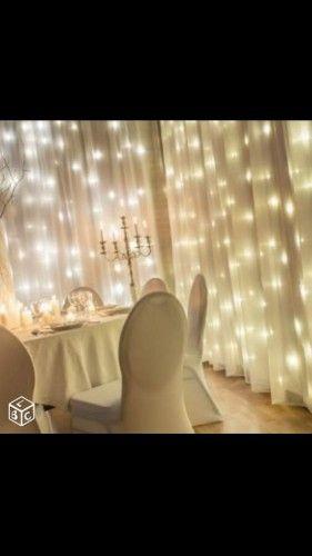3 Rideaux Lumineux En Organza Blanc Mur De Lumieres Annonces