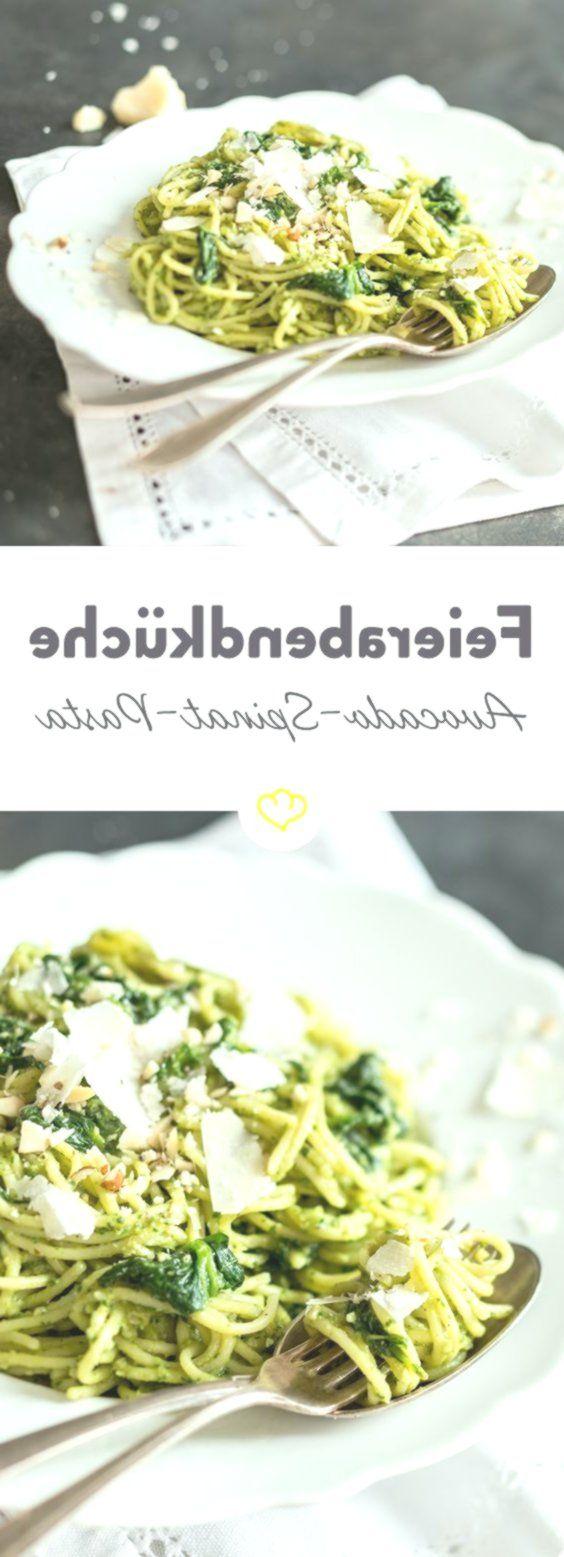Fix und cremig: Schnelle Avocado-Spinat-Pasta Fix und cremig: Schnelle Avocado-Spinat-Pasta