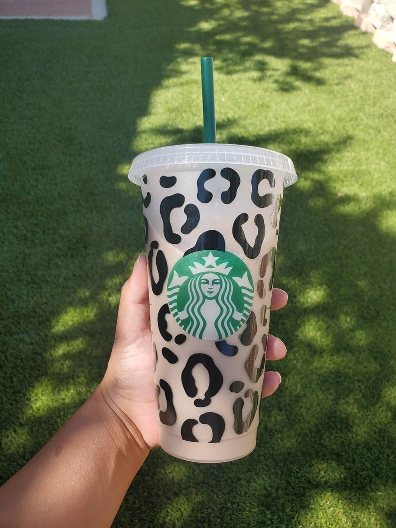 Leopard Wrap SVG starbucks cup leopard wrap svg Etsy in