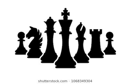 Vector Chess Pieces Team Isolated On White Silhouettes Of Chess Pieces Shahmatnye Figury Fotografii Risunki