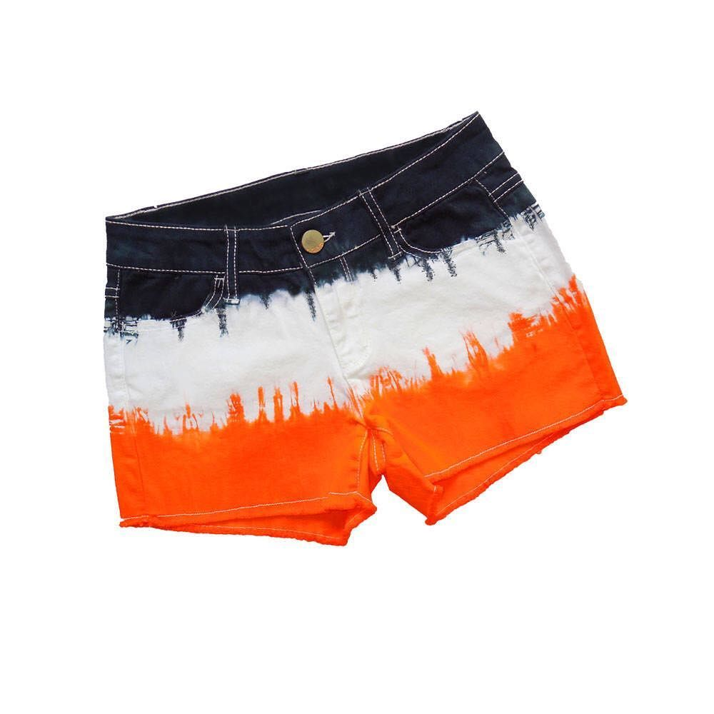 Hot alert! Wow the game day crowd in orange and black tie-dye shorts  professionally dyed in permanent vibrant colors. XS-L. $29.99.