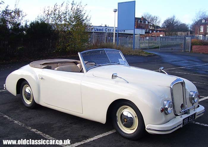 1948 Rover P3-75 Graber Convertible: The body was built in 1948 by Hermann Graber of Switzerland, and was exhibited at the 1949 Geneva Motor Show. It is the only special-bodied P3 ever made.