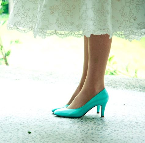 Tiffany Blue Vintage Style Wedding Shoes Love Love Love
