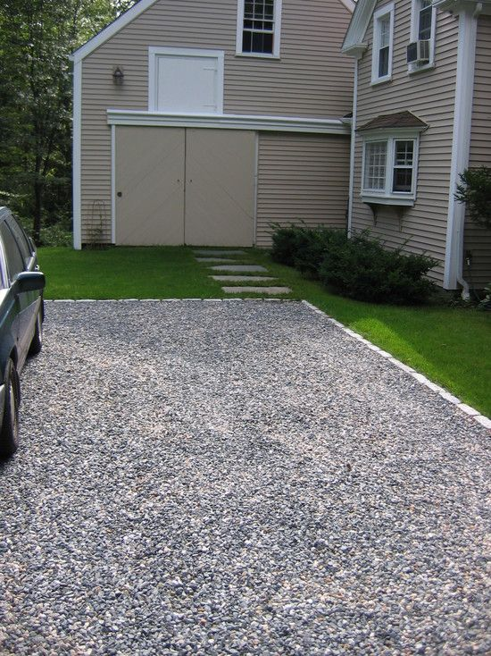 Architecture Mesmerizing Crushed Gravel Driveway Combined With
